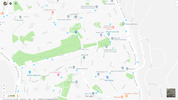 מפה מיקום קליניקה